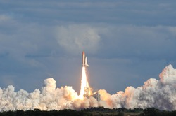 CAPE CANAVERAL, FL - NOVEMBER 16: Space Shuttle Atlantis launches from the Kennedy Space Center November 16, 2009 in Cape Canaveral, FL.
