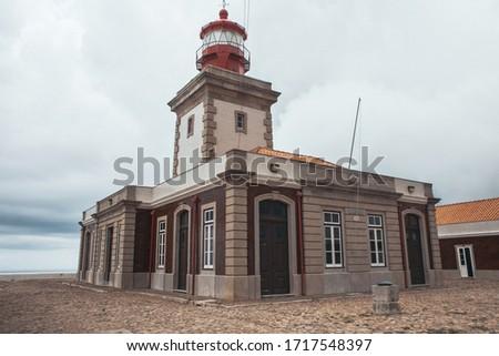 Cape of Rock (Cabo da Roka) in Portugal. Surroundings, lighthouse.  Stok fotoğraf ©