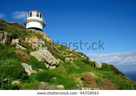 Cape Point Lighthouse, South Africa - stock photo