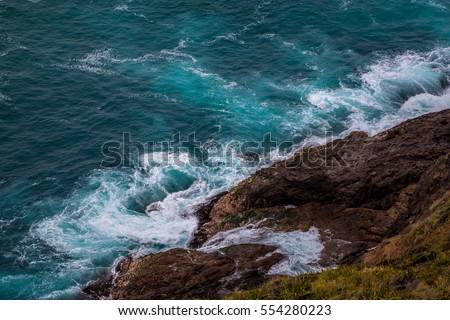 Cape Reinga cliffs,Far North, New Zealand at Dec 2016 #554280223