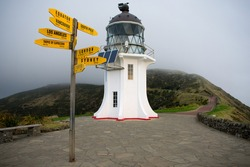 Cape Reinga on a misty day