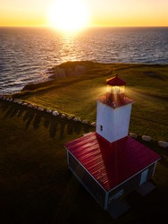Cape Saint Marys Lighthouse Located in the Acadian Region of Nova Scotia.