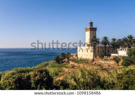 Cape Spartel, promontory at the entrance to the Strait of Gibraltar, 12 km West of Tangier, Morocco.