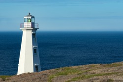 Cape Spear Lighthouse an iconic symbol, near St. John's,Newfoundland, Canada, is a Parks Canada National Historic Site