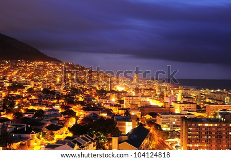 Cape Town city in the night
