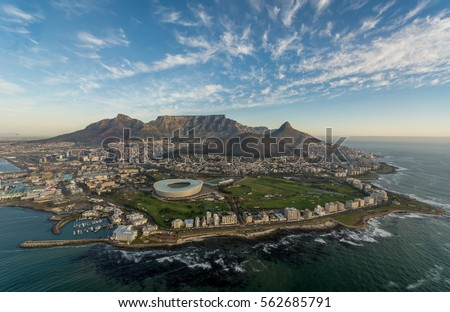 cape town stadium table mountain cape town south africa #562685791