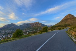 Cape Town Table mountain from Signal Hill Drive