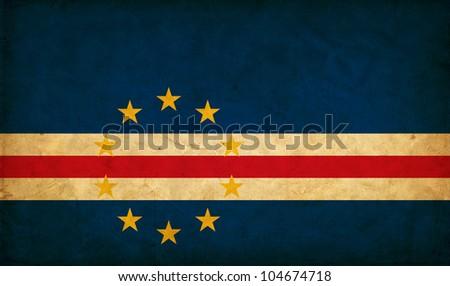 Cape Verde grunge flag