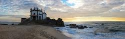 Capela do Senhor da Pedra on sunset, Porto, Portugal