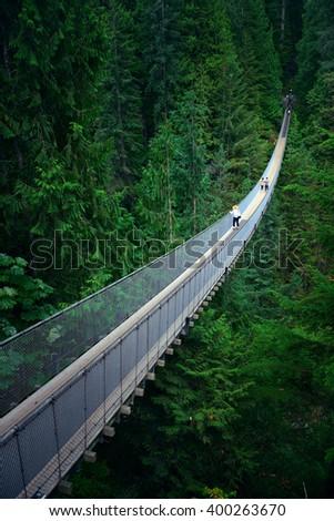 Capilano Suspension Bridge in Vancouver, Canada. #400263670