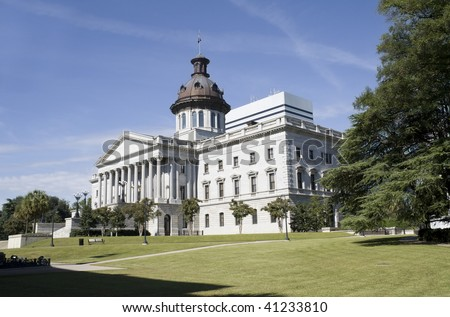 Capital building in downtown Columbia, South Carolina