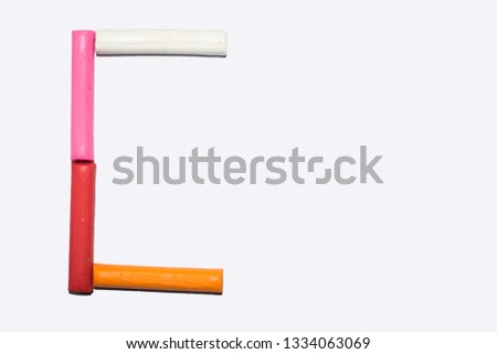 Capital letter C- Letter C from the alphabet, colorful clay sticks on a white background #1334063069