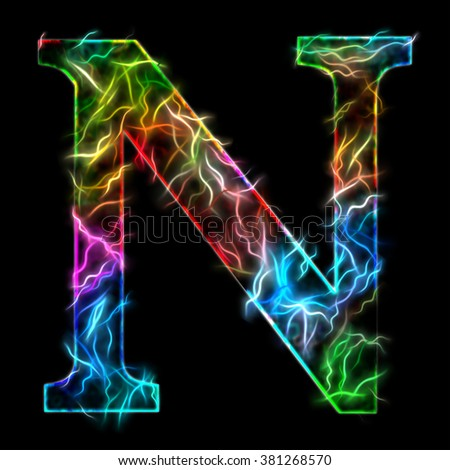 Royalty free capital letter e illustration of a for Letter n decorations