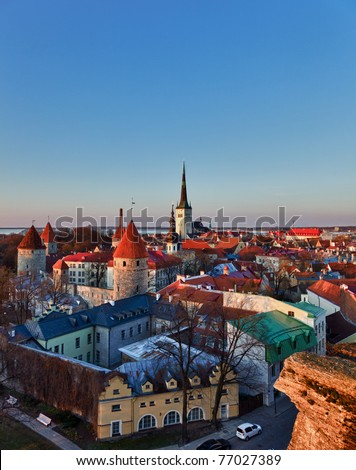 Capital of Estonia, Tallinn is famous for its World Heritage old town walls and cobbled streets. The old town is surrounded by stone walls and distinctive red roofs