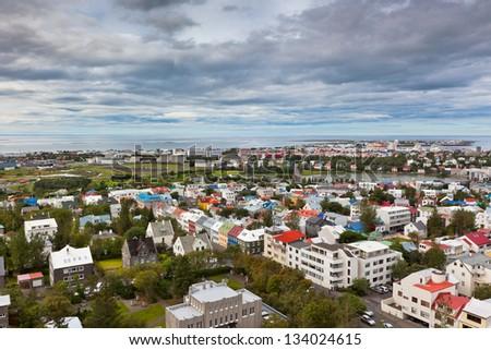 Capital of Iceland, Reykjavik, view from the Hallgrimskirkja Church