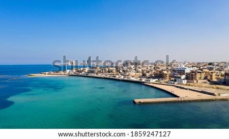 Capital of Libya, Tripoli seafront skyline view Stockfoto ©