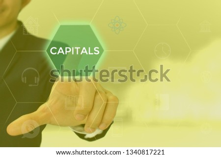 CAPITALS - technology and business concept