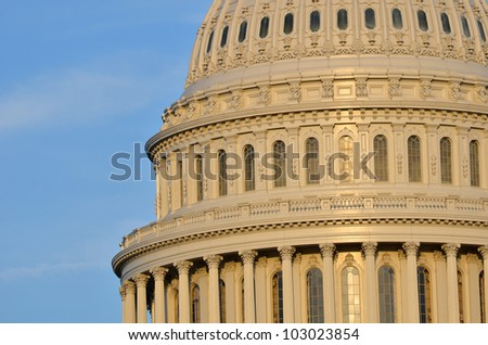 Capitol Building dome detail - Washington DC