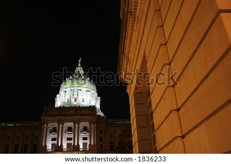 Capitol building in Harrisburg, Pennsylvania.