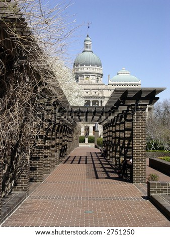 Capitol building in Indianapolis, Indiana. Spring time