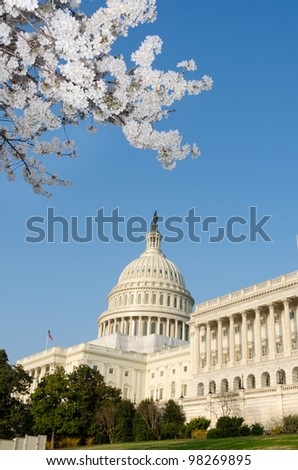 Capitol Building in spring