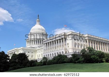 Capitol building in Washington DC in summer day - stock photo