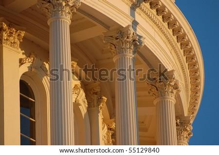 Capitol Columns at Dusk