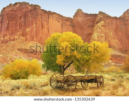 Capitol Reef National Park in a fall, Utah, USA