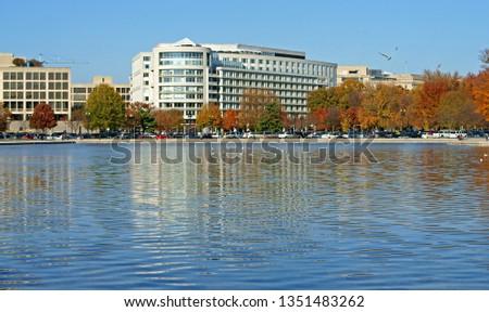 Capitol Reflecting Pool, reflecting pool in Washington, D.C., USA #1351483262