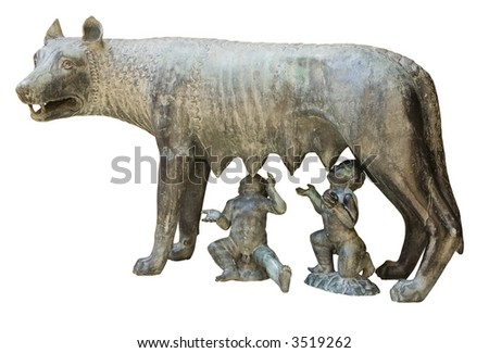 Capitoline wolf replica in Tarragona, Catalonia, Spain