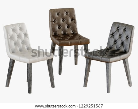 Capitone three chair 3d rendering #1229251567