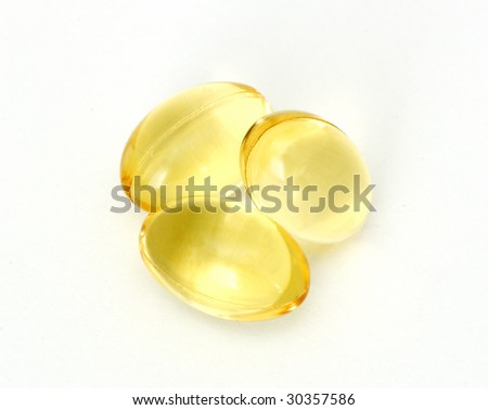 Caplets with fish oil