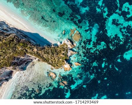 capo bianco beach in elba island Foto stock ©