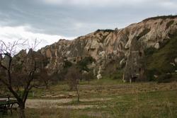 Cappadocia hoodoos. Cappadocia fairy chimneys in Turkey. Nevsehir Cappadocia. Mushroom shaped rocks. Volcanic rocks in Turkey