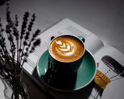 Cappuccino, coffee, Coffee shop, coffee art, barista,