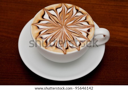 cappuccino,  coffee cup on table