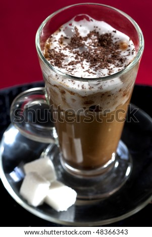 cappuccino coffee with whipped cream