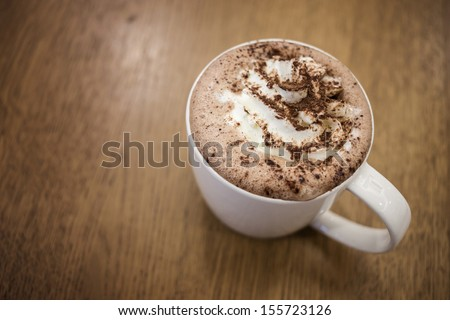 Cappuccino, Cup of Cappuccino Coffee