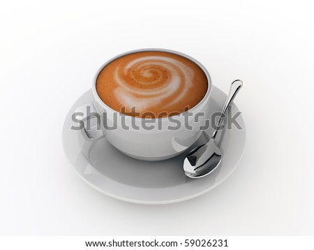 cappuccino isolated in white background