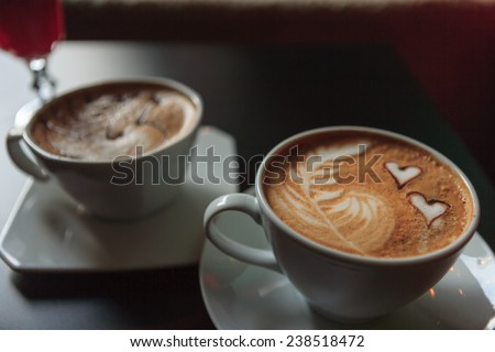 Cappuccino Love - Cappuccino made with love! Designs and art on a cappuccino