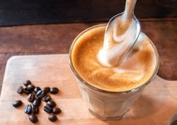 Cappuccino milk foam