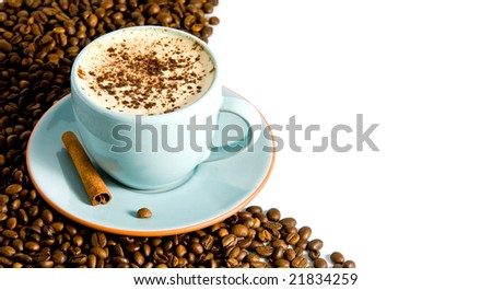 cappuccino on white background