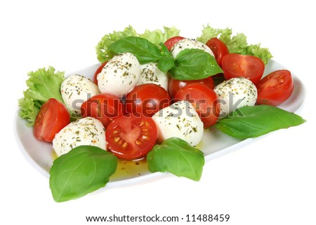 Caprese - Italian salad with cherry tomatos and mozarella cheese