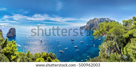Capri island in a beautiful summer day in Italy #500962003