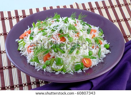 Capsicum & Carrot Rice