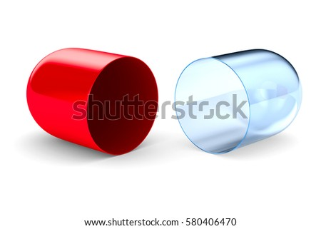 capsule on white background. Isolated 3D image.