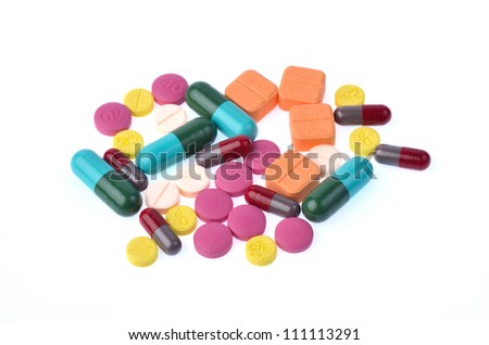 capsule pills isolated on white background
