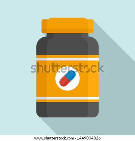 Capsule sport nutrition icon. Flat illustration of capsule sport nutrition icon for web design