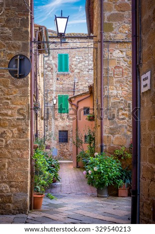 captivating narrow street of...