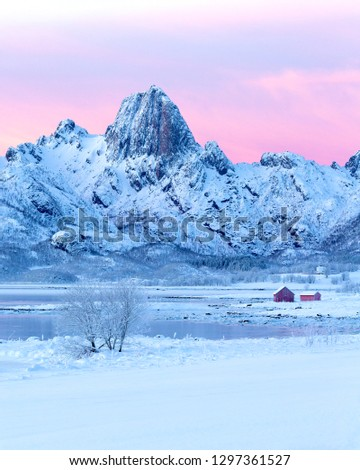 Captures from beautiful mountain range of Ræka in Eidsfjord, Vesterålen/Norway. All these pics were taken during the Blue hour, one week before the Sun came back to our islands.